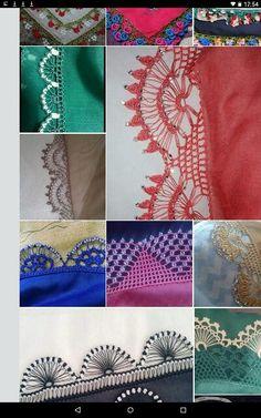 Crochet Borders, Elsa, Needlepoint, Stitches, Embroidery, Crochet Edgings, Jelsa