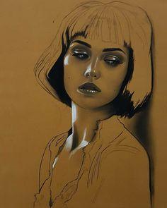Pastel Drawing, Pastel Art, Painting & Drawing, Pencil Art Drawings, Art Drawings Sketches, Horse Drawings, Portrait Sketches, Portrait Art, Photographie Portrait Inspiration