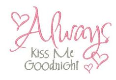Designs :: Home Decor :: Kiss Me Goodnight