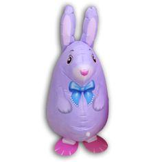 Шар (25''/64 см) Ходячая Фигура, Кролик, Фиолетовый, 1 шт.