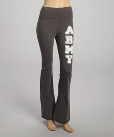 This Gray 'Army' Lounge Pants is perfect! #zulilyfinds
