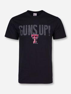 Guns Up Horns Down Black T-Shirt - Texas Tech Red Raiders Texas Tech Red 4923c8570