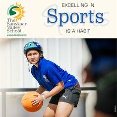 At The Sanskaar Valley School excelling in sports is a habit. #TSVS #SopaanStudents #SVN #ShikharStudents #PranganStudents #AadharStudents School, Sports, Hs Sports, Excercise, Schools, Sport, Exercise