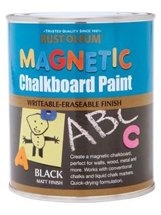 Mag Chalkboard Paint- School Room! How cute?! How clever?! Wonderful idea!!