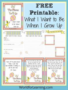 Oh, the Places You'll Go! - What I Want to Be When I Grow Up - FREE Printable