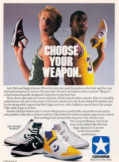 bd065554855 Marketing  though sports Product converse shoes Place magazie Price cost of  magazine Promotion converse shoes larry bird and magic johnson