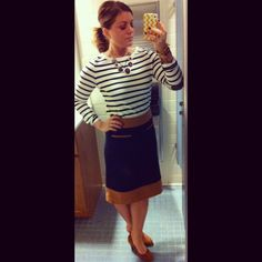Rugby stripes and skirt
