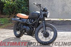 Last year, English football star David Beckham rode a custom-built Triumph Bonneville T100 Scrambler from..