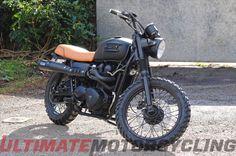 Last year, English football star David Beckham rode a custom-built Triumph Bonneville T100 Scrambler from..