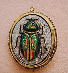 VICTORIAN MICRO MOSAIC BROOCH / PENDANT. Click on the image for more information.