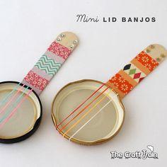 Mini Banjo facile à réaliser avec les enfants...: