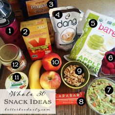 Whole30 snack ideas and mini meals for on the go, to help keep you from losing your mind!
