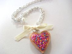 SALE 20  Sugar cookie necklace Valentine's day by DivineDecadance, $19.00