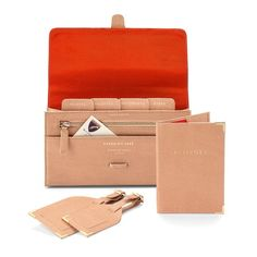 Aspinal Of London: Classic Plain Travel Collection in Deer Saffiano ($269.00) // Includes travel wallet (currency, tickets, passport, documents, other), passport cover, 2 luggage tags