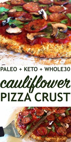 Cauliflower Pizza Crust PALEO Keto Just Jessie B Cauliflower Pizza Crust PALEO Keto Just Jessie B Lindsay The Toasted Pine Nut toastedpinenut Cauliflower Recipes nbsp hellip Whole Foods, Paleo Whole 30, Whole 30 Snacks, Paleo Recipes, Low Carb Recipes, Whole Food Recipes, Paleo Food, Cooking Recipes, Whole 30 Chicken Recipes