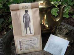 Beautiful tea packaging by Bittersweet Apotheca