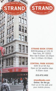 The Strand Bookmark - very monochrome with only bold uses of red.