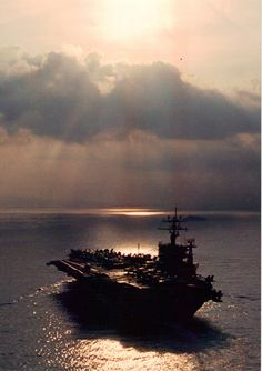 "USS Dwight D Eisenhower CVN........""Topgun"" music in the background.....da na da na da na.......danger zone......da na da na da na da na!!        :)"