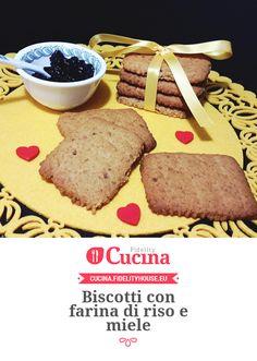 Biscotti con farina di riso e miele della nostra utente Sabrina. Unisciti alla nostra Community ed invia le tue ricette!