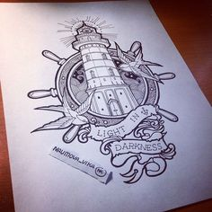 Lighthouse on Behance - Vika Naumova.