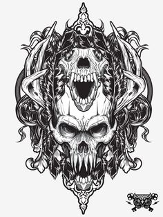 Awesome-Grayscale-Vector-Illustration-by-Joshua-M-Smith