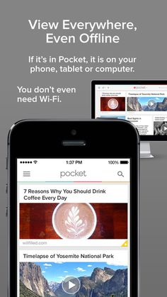 As a PA student, you will be spending a lot of time reading and researching online. The Pinterest App is wonderful, but I still prefer Pocket. You can save web pages, videos and articles from the web with a click of a button, tag them and it syncs automatically across all your devices. I use this daily.