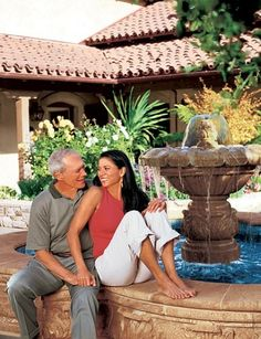 """""""Dina and I love it here, as do my kids, who love to come up and hang out,"""" says Eastwood (pictured with his wife). """"We decided we needed a big fountain for Tehàma—one that people could mosey around while having a glass of champagne outside."""""""