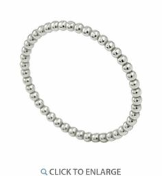 Sterling Silver 1.5MM Stackable Bead Ring for Sale - 70% Off