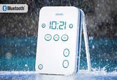 Water-Resistant Bluetooth Shower Speaker for iPhone/iPad/Android