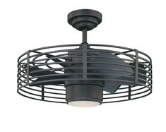 Industrial Cage Ceiling Fan Fun Whimsical Surprising