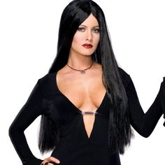Addams Family Deluxe Moticia Wig Adult One Size. From #Rubie's Costume Co. List Price: $59.90. Price: $26.11