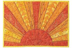sunrise quilt, make this with the fence over the top then rooster ontop of fence post crowing