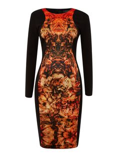 Pied a Terre Bonfire printed panelled dress http://ow.ly/otMnN