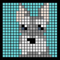 Ravelry: CAL Dog Blanket pattern by Piper Hinds Easy Perler Bead Patterns, Loom Patterns, Quilt Patterns, Pixel Pattern, Pattern Art, Cross Stitch Pattern Maker, Cross Stitch Patterns, Pixel Art, C2c
