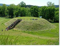The State of Georgia Parks Department features various sites pertaining to the rich Indian history of Georgia. Sites include The Etowah Indian Mounds (pictured above), the Chief Vann House, the New Echota Indian Capital, and the Mystery Wall at Fort Mountain State Park. Visit the site for more information.
