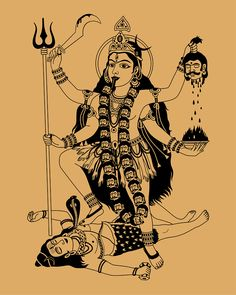 Find Indian Goddess Kali On Beige Background stock images in HD and millions of other royalty-free stock photos, illustrations and vectors in the Shutterstock collection. Indian Goddess Kali, Durga Goddess, Indian Gods, Kali Mata, Shiva Art, Hindu Art, Kali Shiva, Maa Kali Images, Kali Tattoo