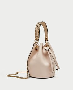 ZARA - NEW COLLECTION - MINI BUCKET BAG WITH EYELETS