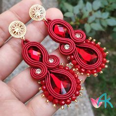 Soutache Necklace, Tassel Earrings, Boho Jewelry, Handmade Jewelry, Silk Ribbon Embroidery, Hippie Gypsy, Gypsy Style, Wire Wrapped Jewelry, Creations