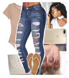 """"""""""" by lamamig ❤ liked on Polyvore featuring Base Range, Speck, MICHAEL Michael Kors and Armani Exchange"""