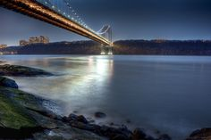 George Washington Bridge at dusk from Ft. Washington Park Manhattan
