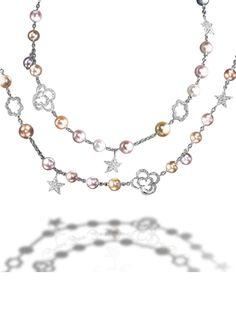 CHANEL - Sautoir in 18K white Gold - Baroque Sautoir - Chanel Fine Jewelry