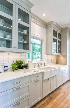 Best Kitchen Cabinet Paint, Repainting Kitchen Cabinets, Tall Kitchen Cabinets, Kitchen Paint Colors, Paint Colors For Cabinets, Best Paint For Cabinets, Kitchen Cabinets Designs, Best Kitchen Colors, Building Kitchen Cabinets