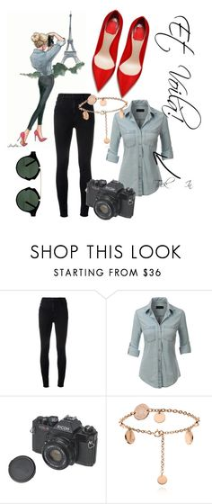 """Visiting Paris: Starter Pack"" by lapetitetrendsetter ❤ liked on Polyvore featuring J Brand, LE3NO and Spitfire"