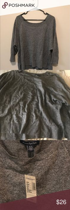 American Eagle grey sweater NWT! Old American Eagle. Perfect for a fall day! American Eagle Outfitters Sweaters Crew & Scoop Necks