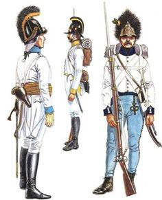 Ufficiale dei fucilieri del 4 rgt. fanteria, fuciliere del 41 rgt. fanteria e granatiere del 33 rgt. fanteria austriaca