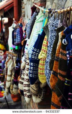 Knit Socks On The Street Market In Tbilisi Old Town, Republic Of Georgia Stock Photo 94332337 : Shutterstock