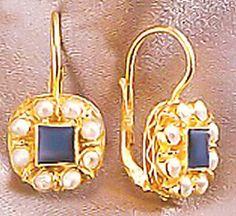 Mediterranean Lapis & Pearl Earrings