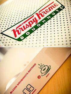 Krispy Kreme - glazed, jelly and cream filled doughnuts - nothing like a fresh hot donuts in MB. Yummy!