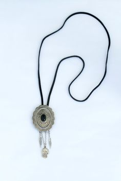 Onyx Concho Necklace by BrianneCossette on Etsy, $42.00