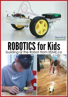 Robotics for kids - learn about robotics with Q the robot from @projectEEME - no coding required! #STEM #homeschool